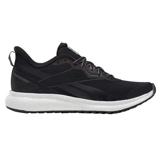Reebok Forever Floatride Womens Running Shoes, Black/White, rebel_hi-res