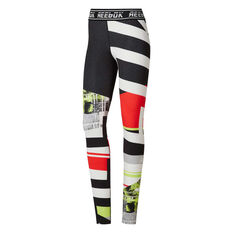 881d631c8499 Reebok Womens WOR Meet You There Tights Green XS