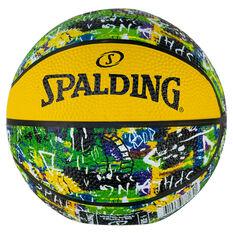 Spalding Graffiti Mini Basketball Green/Yellow 1, , rebel_hi-res
