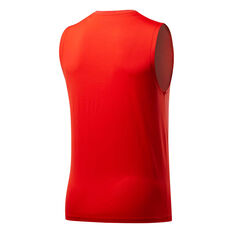 Reebok Mens ACTIVCHILL Tank Red S, Red, rebel_hi-res