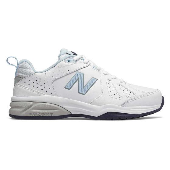 New Balance 624 V4 D Womens Cross Training Shoes, White / Blue, rebel_hi-res