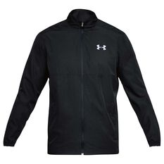 Under Armour Mens Sportstyle Woven Jacket Black S adult, Black, rebel_hi-res