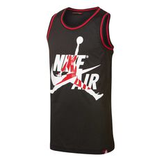 Nike Boys Jordan Jumpman Basketball Jersey Black / Red S, Black / Red, rebel_hi-res