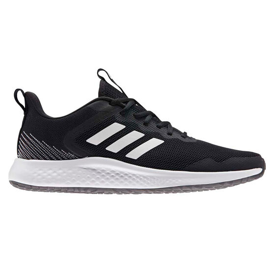 adidas Fluidstreet Mens Running Shoes, Black/White, rebel_hi-res