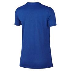 Nike Womens Dry Legend Crewneck Training Tee Blue XS, Blue, rebel_hi-res