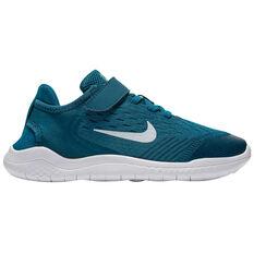 Nike Free RN 2018 Kids Running Shoes Blue US 11, Blue, rebel_hi-res