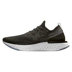 Nike Epic React Flyknit Mens Running Shoes Black / White US 7, Black / White, rebel_hi-res