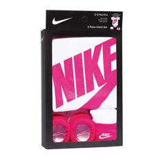 Nike Toddlers Futura Logo Boxed Set White / Pink 0-6 Months, White / Pink, rebel_hi-res