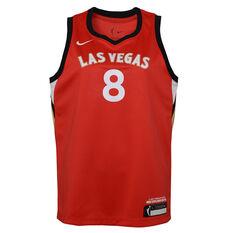 Nike Las Vegas Aces Liz Cambage 2021 Kids Basketball Jersey Pink S, , rebel_hi-res