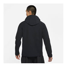 Nike Mens Pro 1/4-Zip Hoodie Black S, Black, rebel_hi-res