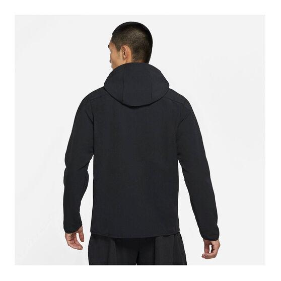 Nike Mens Pro 1/4-Zip Hoodie Black XXL, Black, rebel_hi-res