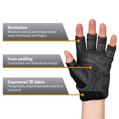 Harbinger Bioflex Elite Glove Grey S, Grey, rebel_hi-res