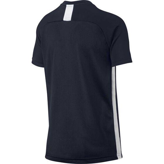 Nike Boys Dri-FIT Academy Short Sleeve Top, Navy / White, rebel_hi-res