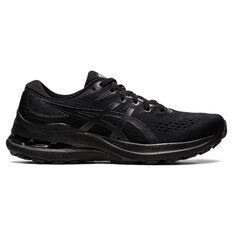 Asics GEL Kayano 28 Womens Running Shoes Black/Grey US 6, Black/Grey, rebel_hi-res