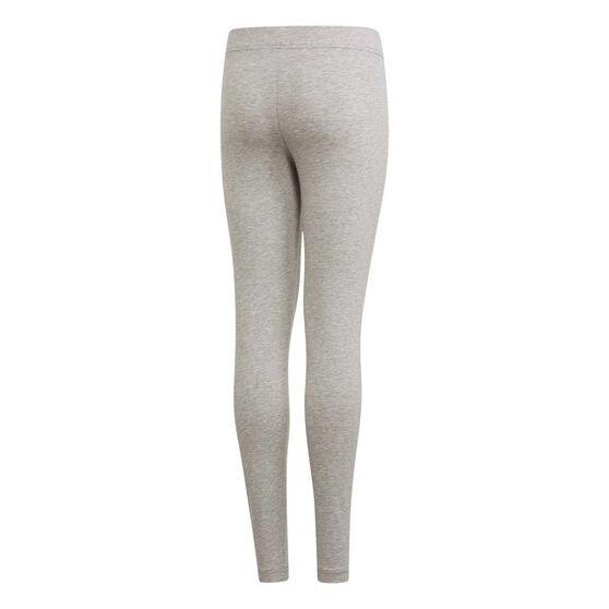 adidas Girls Essentials Linear Tights, Grey / Pink, rebel_hi-res