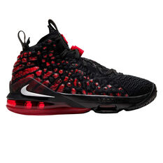 Nike LeBron XVII Kids Basketball Shoes Black / Red US 4, Black / Red, rebel_hi-res
