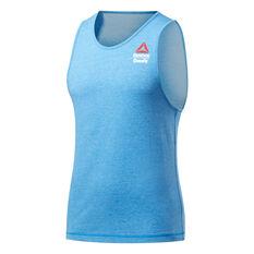 Reebok CrossFit Mens ACTIVCHILL + Cotton Games Tank Blue S, Blue, rebel_hi-res