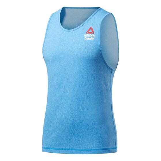 Reebok CrossFit Mens ACTIVCHILL + Cotton Games Tank, Blue, rebel_hi-res