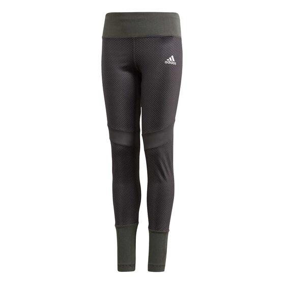 adidas Girls Training Favourite Tights, Grey / Black, rebel_hi-res
