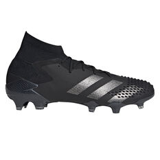 adidas Predator 20.1 Football Boots Black US Mens 7 / Womens 8, Black, rebel_hi-res