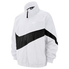 Nike Mens Sportswear Swoosh Statement Windbreaker White XS, White, rebel_hi-res