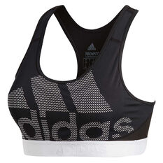 adidas Womens Dont Rest Alphaskin Sports Bra Black/White XS, Black/White, rebel_hi-res