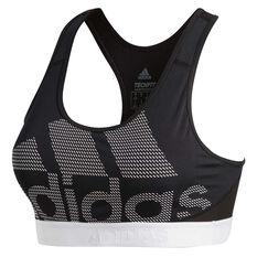 7eb1ca21820 adidas Womens Dont Rest Alphaskin Sports Bra Black/White XS, Black/White,