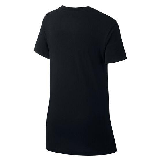 Nike Sportswear Girls Futura Tee, Black, rebel_hi-res