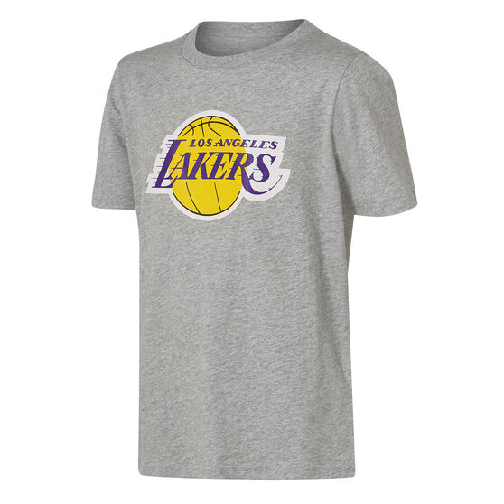 LA Lakers Short Sleeve Cotton Tee Grey / Yellow M, Grey / Yellow, rebel_hi-res