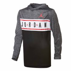 Nike Boys Air Jordan Hoodie Black / White S, Black / White, rebel_hi-res