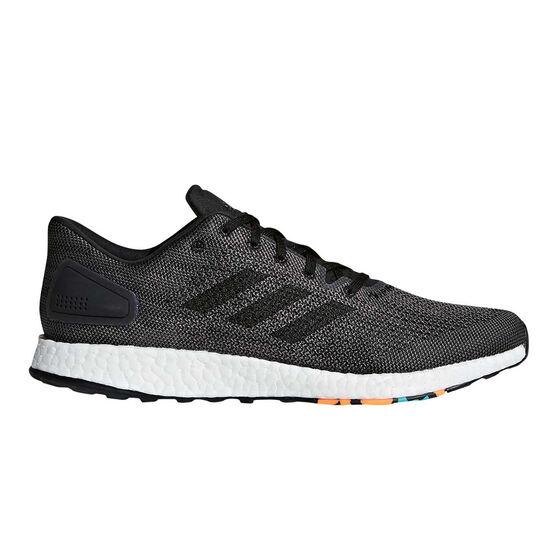 adidas PureBOOST DPR Mens Running Shoes Black / White US 8, Black / White, rebel_hi-res