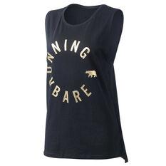 Running Bare Womens Easy Rider Muscle Tank Black 8, Black, rebel_hi-res