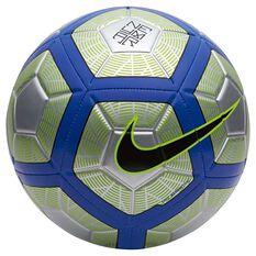 Nike Neymar Strike Soccer Ball Silver / Black 3, Silver / Black, rebel_hi-res