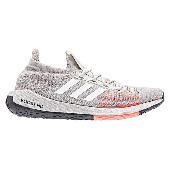 adidas Pulseboost HD Womens Running Shoes, Grey / Black, rebel_hi-res