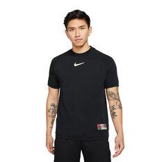 Nike FC Mens Home Soccer Jersey Black S, Black, rebel_hi-res