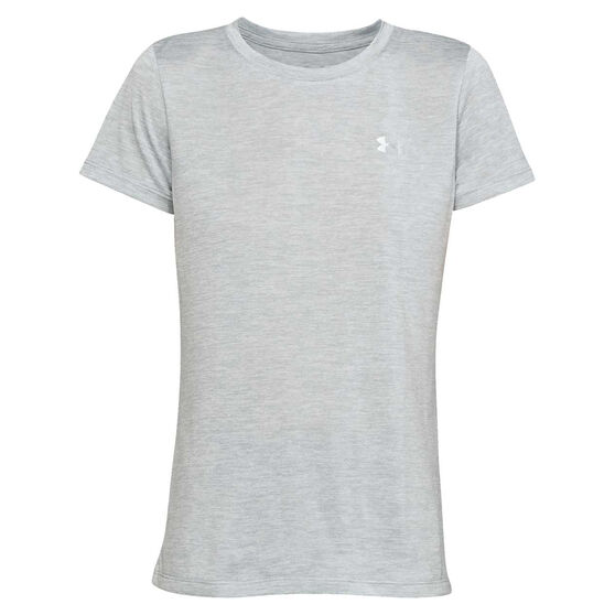 Under Armour Womens Tech Twist Tee Grey XS, Grey, rebel_hi-res