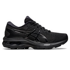 Asics GEL Kayano 27 Kids Running Shoes Black US 1, Black, rebel_hi-res