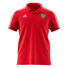 Arsenal 2020/21 Mens 3-Stripes Polo Red XS, Red, rebel_hi-res