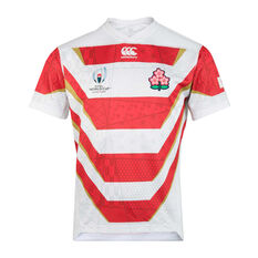 Japan 2019 Mens Rugby World Cup Home Jersey White / Red S, , rebel_hi-res