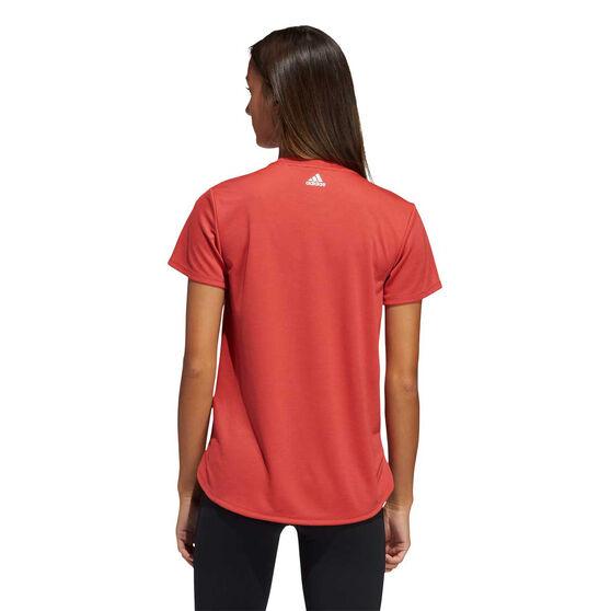 adidas Womens Badge Of Sport Training Tee, Red, rebel_hi-res
