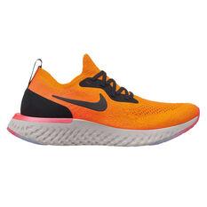 Nike Epic React Flyknit Womens Running Shoes Orange / Black US 6, Orange / Black, rebel_hi-res