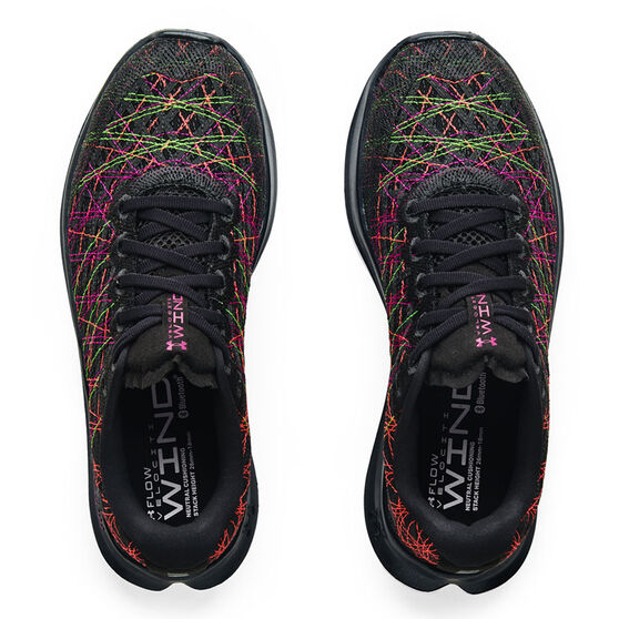 Under Armour Flow Velociti Wind Womens Running Shoes, Black, rebel_hi-res