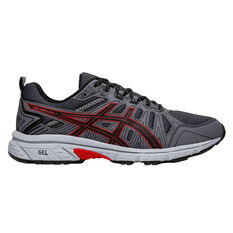 Asics GEL Venture 7 Mens Running Shoes Black / Red US 7, Black / Red, rebel_hi-res