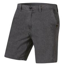 Quiksilver Mens Union Heather Amphibian Shorts Black 30, Black, rebel_hi-res