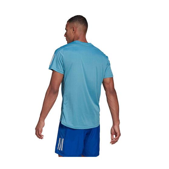 adidas Mens Own The Run Tee Blue M, Blue, rebel_hi-res