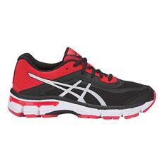 Asics 2000 6 Kids Running Shoes Black / Silver US 1, Black / Silver, rebel_hi-res