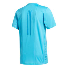 adidas Mens HEAT.RDY 3-Stripes Training Tee Blue S, Blue, rebel_hi-res