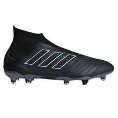 adidas Predator 18+ FG Mens Football Boots Black US 7, Black, rebel_hi-res