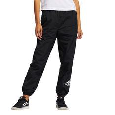adidas Womens Fashion Woven Pants Black XS, Black, rebel_hi-res