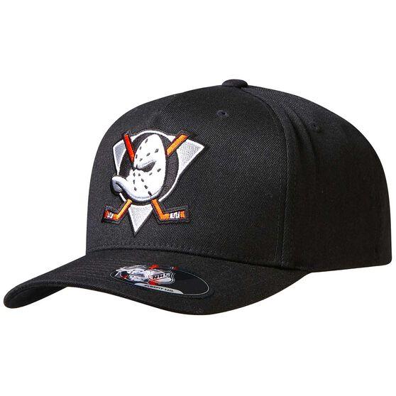 Anaheim Ducks Black Crest 110 Cap, , rebel_hi-res